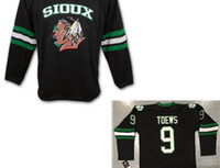 Wholesale Hot sale Men s Jonathan Toews North Dakota Fighting Sioux Hockey high quality embroidery Jerseys or custom any name or number