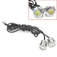 Wholesale 2Pcs Practical W LM DC V Car Daytime Fog LED DRL Eagle Eye Lamp Light Hot