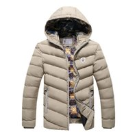 Wholesale Winter Jacket Men Brand Parka Men Clothing Zipper Cotton Padded Hooded Thick Quilted Jackets Coat Mens Hoodies