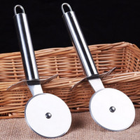 Wholesale Stainless Steel Pizza Cutter Sharp Blade large hard good grips anti slip Pizza Wheel Slicer for Pizzza By DHL