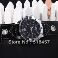 accurate promotions - Accurate Fashion Big Watch Black Band Black Face Round Synthetic Leather Men s Wristwatches on Promotion