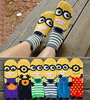 animal free tube - Cotton Minions Socks D Despicable Me Fashion Socks Cartoon Character Lady Girls Cute Tube Sock Free Size