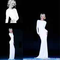 Cheap 2016 Evening Dresses backless evening dresses high neck long sleeves party gowns side split mermaid tight prom dresses party gowns yo32