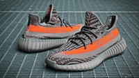 Wholesale With Original box Receipt Kanye West Boost V2 Boost SPLY quot Grey Orange quot BB1826 Running Shoes Free DHL shipping