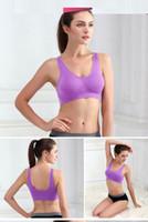 Wholesale 7 colors ahh bra with removable bra pads two layer Genie Bra women sport bra seamless sport bra women push up in stock