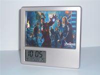 Alarm Clocks america alarm - New Avengers Hulk Thor Captain America Creative Digital Alarm Clock Multi function Desk Clock Calendar Pen Holder Photo Frame Alarm Clock