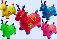 bamboo songs - Send pump to send claw ball inflatable toys children songs music jumping horse jumping deer increased thickening