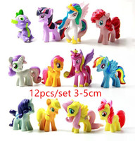 action cartoon - 12pcs My Pony Friendship Is Magic Action Toy Figures Hobbies Unicorn Horse Cartoon Model Little Cute Pony Toys Action Figures