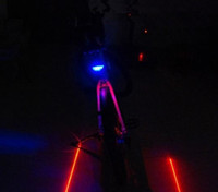 Wholesale 1Set Bike accessories Bicycle led Cycling Laser led bike tail light Laser LED LED light Bike safety bike bycicle light