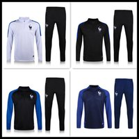 Wholesale Top Thai quality France Jersey tracksuit Football Shirt Training Suit Jacket mix order S M L XL