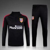 Wholesale 2015 Atletico Madrid training suit football tracksuit maillot de foot camisetas chandal futbol pants jogging jerseys