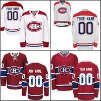 Wholesale Custom Montreal Canadiens Jerseys Authentic personalized Cheap Hockey Jerseys Any Number Name Embroidery Logos size S XL