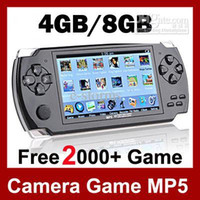 Wholesale 2016 NEW quot LCD Game player Console MP4 MP5 Player GB Free games Media Player AV Out FM with Camera