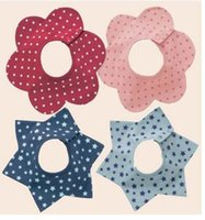 baby flowers delivery - Fast Delivery New customizable cartoon cotton baby bibs baby bibs flower shape rotating multifunction bib red blue light blue