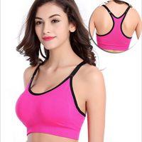 Wholesale High Quality M L XL Seamless Sports Bra Fashion Single Layer Bra Ahh Bra Shaperwear Bra Seamless Sports Bra Yoga Bra B4