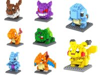 Wholesale Diamond Building Blocks Pikachu Figure Model Toys Mewtwochild Child Christmas Gift Anime Building Blocks