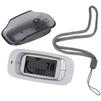 Wholesale Multi Function Walking D Pocket Pedometer Activity Fitness Tracker White with Holster Belt Clip