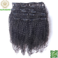 Wholesale Afro Kinky Curly Brazilian Human Hair Clip In On Hair Extensions for Full Head Set g Set