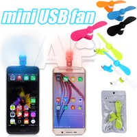 Wholesale Mini USB Fan Pin Flexible Portable Super Mute Cooler Cooling For Android Phone Iphone S Plus For Ipad With Package
