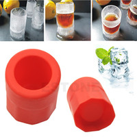Wholesale 1 Cup Hot Shape Rubber Shooters Ice Cube Shot Glass Freeze Mold Maker Tray Party Supply Y102