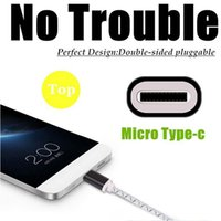 Wholesale 1m USB Male to Type C USB Male Connector LED Light Data Charge Cable