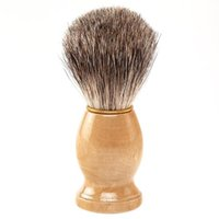 Wholesale Professional Barber Salon Shave Shaving Razor Brush wood Handle Tools Beard Mustache Brushes For Men Clearance Beard Cleaning Tool