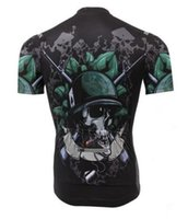 Wholesale Cycling Jerseys Fashion Skeleton Cycling Bike Short Sleeve Clothing Bicycle Wear Jersey Good Quality jersey child