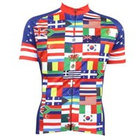 Wholesale New Womens Cycling Jersey Comfortable Bike Bicycle Shirt Multinational Flag logo Alien SportsWear cycling clothing jerseys tops