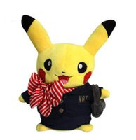 airlines game - Fashion Airline Stewardess Design Pikachu Plush Toys Children Birthday Gift Stuffed Toys Kids Pocket Monster Plush Dolls