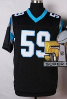 best bowling shirts - Luke Kuechly Football Jersey with Super Bowl Patch Elite Men s Home Color Fotball Shirts Best Quality Athletic Uniforms for Sale