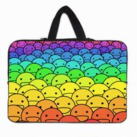 Wholesale Cute Happy Balls Notebook Laptop Dual Zipper Sleeve Case Soft Laptop Pouch Bags For Lenovo Dell Samsung Apple Sony quot PC
