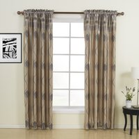 Wholesale Traditional Leaf Rod Pocket Top Blackout Curtains Drapes With Multi Size Custom