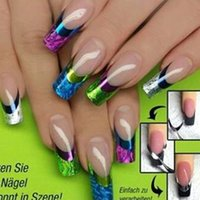 Wholesale New arrival French style nail stickers sliver glod black popular hot women beauty nail tool sale