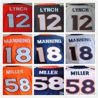 Wholesale 13 Trevor Siemi Paxton Lynch Peyton Manning Von Miller Emmanuel Sanders Chris Harris Jr Derek Wolfe Stitched jersey