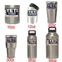 beer bones - HOT YETI Cup Cooler YETI Rambler Tumbler For Travel Vehicle Beer YETI Mug Stainless Steel