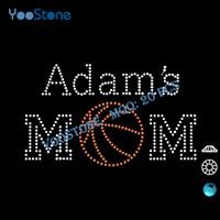 basketball mom - New Trend Product Adam s Basketball Mom Rhinestone Iron On Transfers Hot Fix Rhinestone Heat Transfer For Clothes