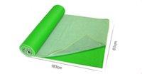 Wholesale Fitness sports yoga anti sweat soft blanket healthy microfiber silicone grain skidless exercising pilates mat towel