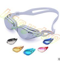 Wholesale hot adult unisex man swimming goggles lady electroplating goggles UV anti fog waterproof eyewear swimming goggles whit earplug nose buckle