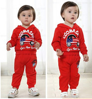 bape shirts - 2016 Autumn Winter Boys Girls Outfits Baby bape Car Hoodie Shirt Pants Sets Outfit Children Fashion Tracksuit Kids Clothing