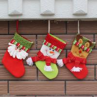 big candy decorations - High Quality European style big brother ski Christmas socks Creative gifts of candy socks Christmas stockings for Holiday Candy Socks MC0328