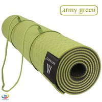 Wholesale Matmats TPE Yoga Mat Non Slip Double Layers With Adjustable Strap Healthy Lose Weight For Yoga mm cm cm