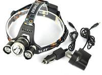 best head flashlights - Best Selling T6 Headlamp Lumens x Cree XM L T6 Head Lamp High Power LED Headlamp Head Lamp Flashlight Head charger car charge