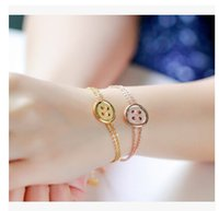 asian retailers - Lucky button women Bracelet The new red clover Rope Bracelet titanium bracelet girls gift jewelry and retailer