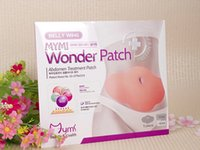 Wholesale 30pcs MYMI Wonder Slimming Patch Belly Slim Patch Abdomen Weight Loss Fat burning Cream Navel Stick Efficacy Strong