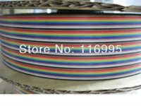 Wholesale 10PIN AWG FLAT CABLE MUTLI COLOR flat cable flat ethernet cable