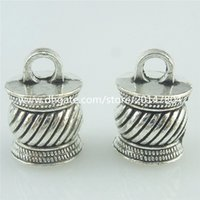 bead cap bails - 16468 Silver Vintage mm Cap Jewelry Bail Chain End Bead Tassels Finding