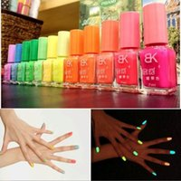 glow in the dark nail polish - New ml Luminous Non toxic Matte Nail Polish Fluorescent Neon Nail Paint Vernis Polishes Glow In The Dark Varnishes hy975