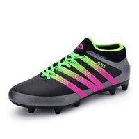 hg - Football Boots HG AG Nylon Soles Soccer Shoes Women Botas De Futbol Con Tobillera Cleats Superfly Chuteira Futsal Jogging For Men