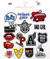 bad girl clothing - 10pcs cars red mouth love A bad girl embroidered badge Iron on small patch for clothing children trousers decorative diy accessories471