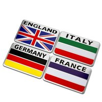 auto cars germany - England France Germany Italy Flag Square Quality D Aluminum Car Auto Badge Emblem M Sticker Exterior Car Styling Decoration